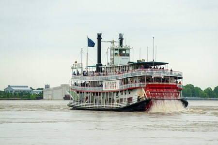Steamboat Natchez on Mississippi River in New Orleans, Louisiana, USA. Redakční