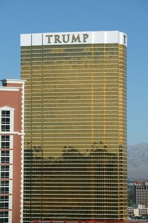 LAS VEGAS - DEC 24, 2015: Trump Hotel Las Vegas is a luxury resort owned by Donald Trump in Las Vegas, Nevada, USA.