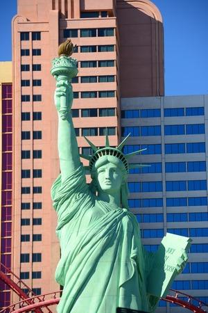 New York-New York Hotel and Casino on Las Vegas Strip in Las Vegas, Nevada, USA. This Hotel is built with replicas of famous landmarks on New York City skyline. Sajtókép