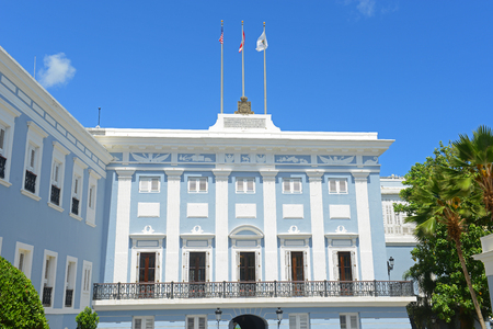 This building is the official residence of the Governor of Puerto Rico. 版權商用圖片