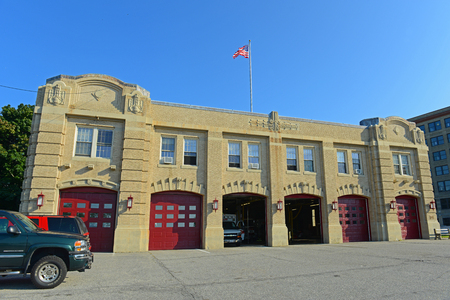 Portland Fire Department on 380 Congress St in Portland, Maine, USA.
