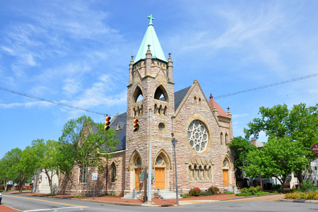 St. John's Episcopal Church in historical downtown Portsmouth, Virginia, USA.