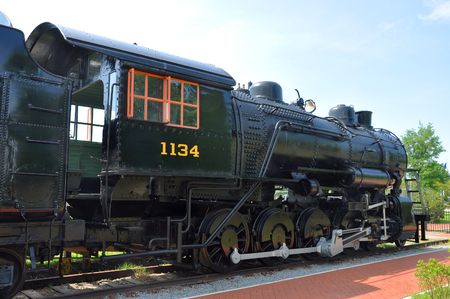 Norfolk and Western engine No. 1134 steam locomotive in Railroad Museum of Virginia in Norfold, VA, USA.
