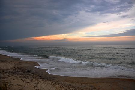 Cape Hatteras National Seashore sunset, on Hatteras Island, North Carolina, USA.