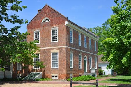Antikes Haus in Colonial Williamsburg, Virginia, USA. Editorial