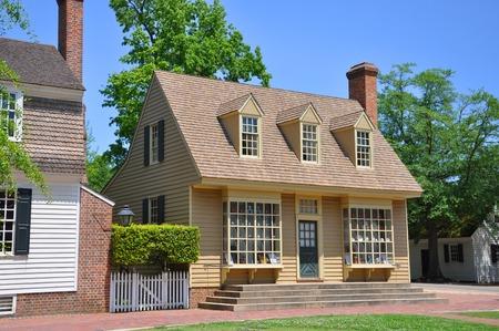Antique William Pitt Store in Colonial Williamsburg, Virginia, USA.