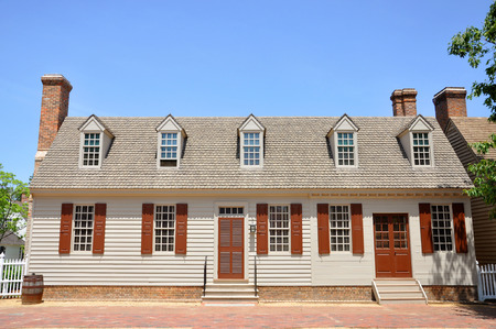 Antikes Haus in Colonial Williamsburg, Virginia, USA.
