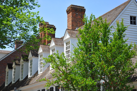 Antique House in Colonial Williamsburg, Virginia, USA. Archivio Fotografico