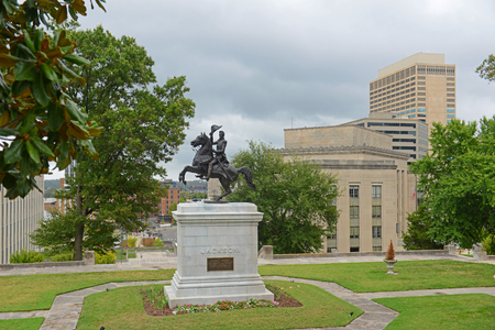 Andrew Jackson Statue in State Capitol at the center of Nashville, Tennessee, USA. Banque d'images