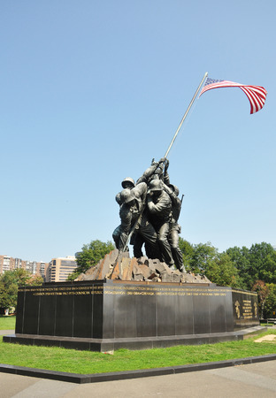 Flags of Our Fathers. The famous Iwo Jima memorial in Arlington, Virginia, USA. Editorial