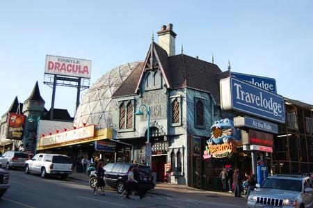 NIAGARA FALLS - MAR. 19, 2010: Clifton Hill Entertainment Area, Niagara Falls, Ontario, Canada.