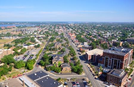 Stadt Buffalo, gesehen vom Rathaus von Buffalo, New York, USA. Standard-Bild