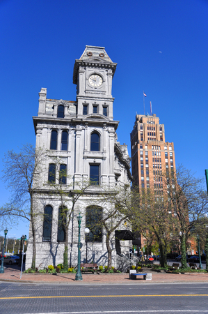 Gridley Building at Clinton Square in downtown Syracuse, New York State, USA.