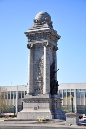 Soldiers and Sailors Monument at Clinton Square in downtown Syracuse, York State, USA.