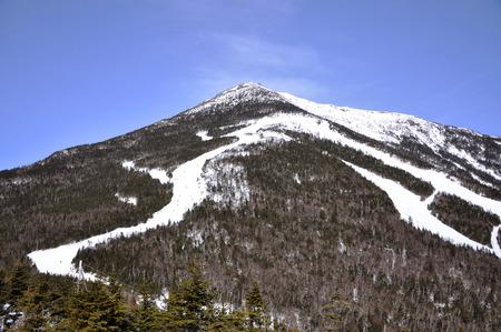 Whiteface Mountain in winter, Adirondack Mountains, New York state, USA.