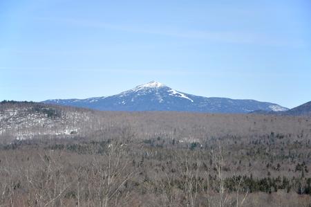 Whiteface Mountain in winter, Adirondack Mountains, New York state, USA. Stock Photo