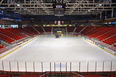 Herb Brooks Arena, known as the Olympic Center, Lake Placid, New York, USA. This arena hosted various events during the 1932 and 1980 Winter Olympic Games.