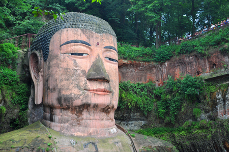 Leshan Giant Buddha (Dafo), located in Le Shan City, Sichuan Province, China.