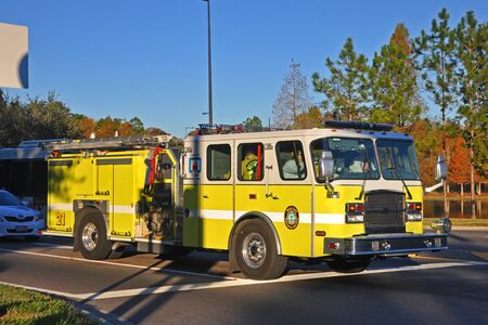 Reedy Creek Fire Truck in Orlando, Florida, USA.