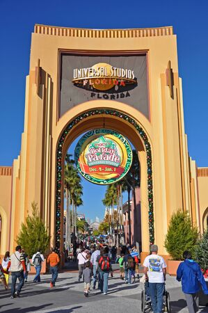 Entrance of Universal Studios in Orlando, Florida, USA.
