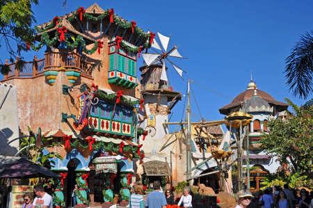 Ancient Building in Islands of Adventure in Universal Studios Florida, Orlando, Florida, USA.