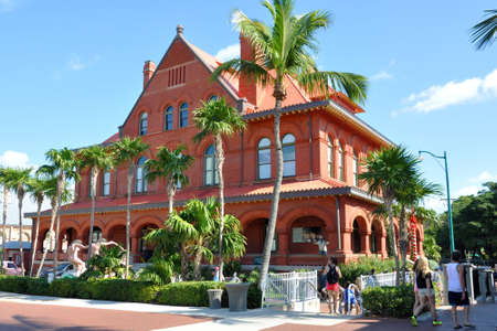 Old Post Office and Custom house, currently as Key West Museum of Art & History in downtown Key West, Florida, USA. Editorial