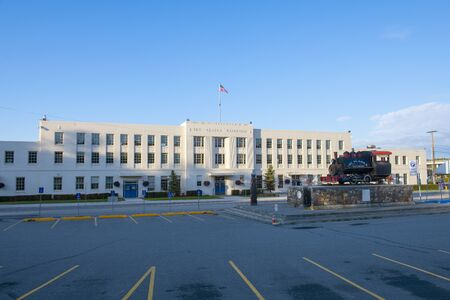 Anchorage Depot is the terminal of the Alaska Railroad in downtown Anchorage, Alaska, AK, USA.