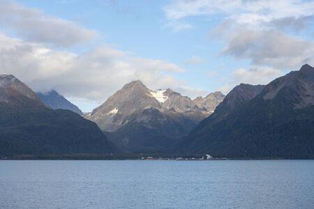 Glacier mountain near Aialik Glacier on Aialik Bay in Kenai Fjords National Park near Seward, Alaska AK, USA.
