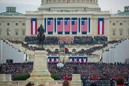 WASHINGTON, DC - JAN.20, 2017: Presidential Inauguration of Donald Trump as the 45th President of the United States in Washington DC, USA.