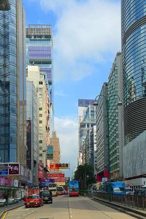 Hong Kong Nathan Road at Salisbury Road, Kowloon, Hong Kong. Nathan Road is a main commercial thoroughfare in Kowloon, Hong Kong.
