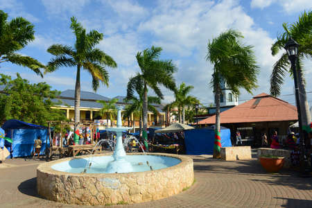Falmouth Water Square is the busy hub of Falmouth, Jamaica. Falmouth boasted running water before New York City in 1798.