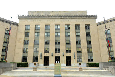 Tennessee State Office Building next to the State Capitol in Nashville, Tennessee, USA.