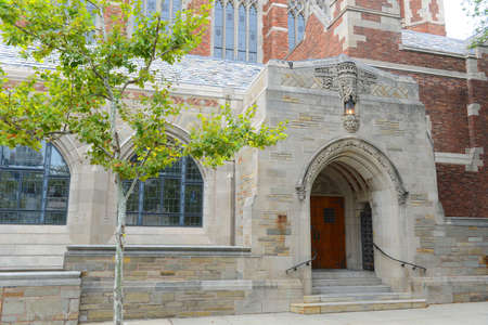 Gateway to Law School in Yale University, New Haven, Connecticut, CT, USA.