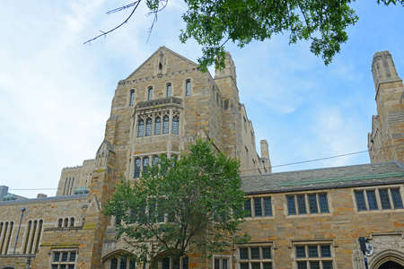 Anne T. and Robert M. Bass Library in Yale University, New Haven, Connecticut, USA.