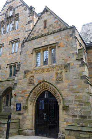 Jonathan Edwards College in Yale University, New Haven, Connecticut, USA.