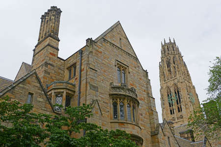 Harkness Tower in Yale University, New Haven, Connecticut, CT, USA.