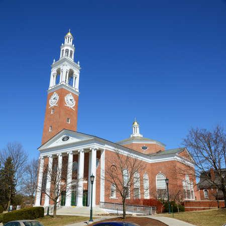 Ira Allen Chapel in University of Vermont (UVM), Burlington, Vermont VT, USA.