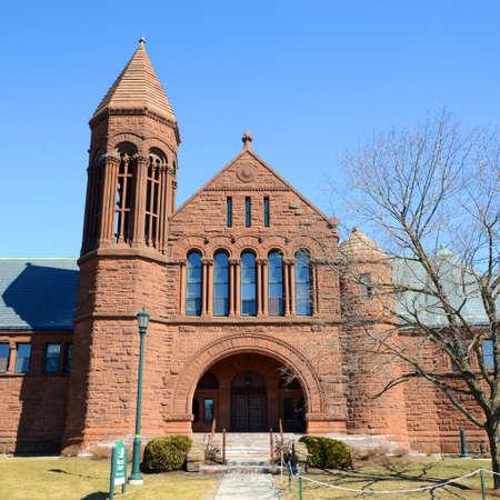 Billings Memorial Library in University of Vermont (UVM), Burlington, Vermont VT, USA.