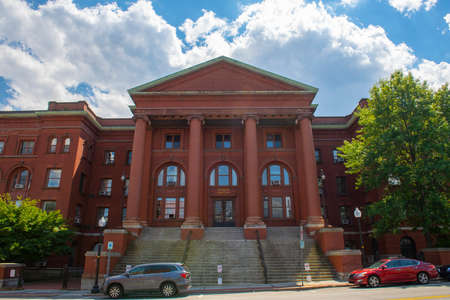 Massachusetts Middlesex County Registry of Deeds and Probate Court building on Cambridge Street in East Cambridge, Massachusetts MA, USA.