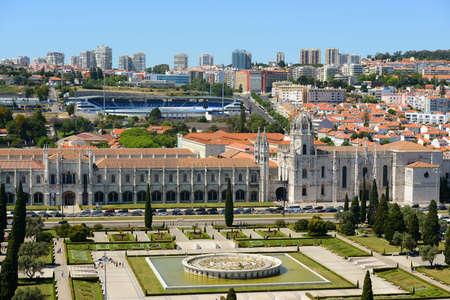 Jeronimos Monastery (Portuguese: Mosteiro dos Jeronimos) at Belem district, Lisbon, Portugal.