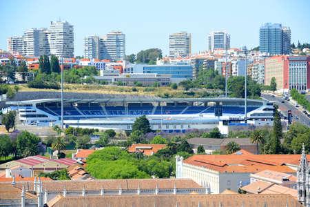 Estadio do Restelo is home of Os Belenenses football club (Clube de Futebol Os Belenenses) at Belem district in city of Lisbon, Portugal.