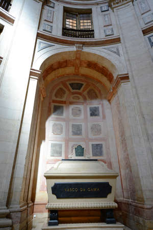 Cenotaph of Vasco da Gama in Santa Engracia Church in Lisbon, Portugal. This Church is now National Pantheon where greatest Portuguese personalities are buried.