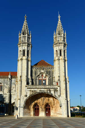 Museu de Marinha (Nany Museum) at the west wing of Jeronimos Monastery in Belem District, Lisbon, Portugal. Jeronimos Monastery is registered as a UNESCO World Heritage Site since 1983.