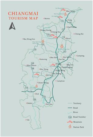 Chiang Mai Tourism Map