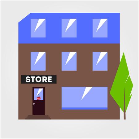 flat: Flat store Illustration