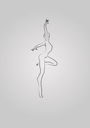 describe: balet Illustration