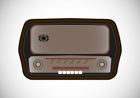 old radio Ilustrace