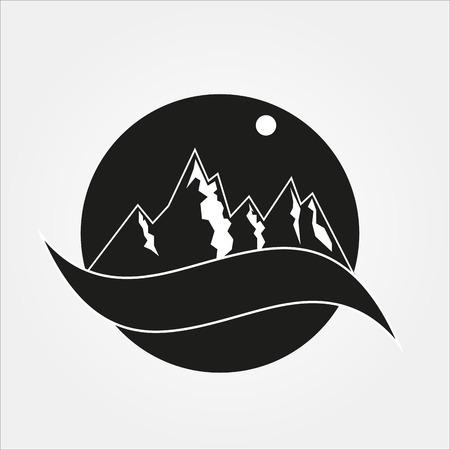 night: Night mountain Illustration
