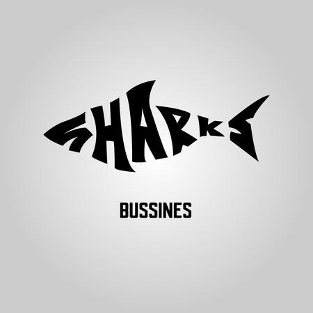 タマンのサメ ロゴ  イラスト・ベクター素材