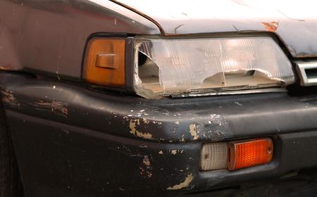 headlight: broken car headlight